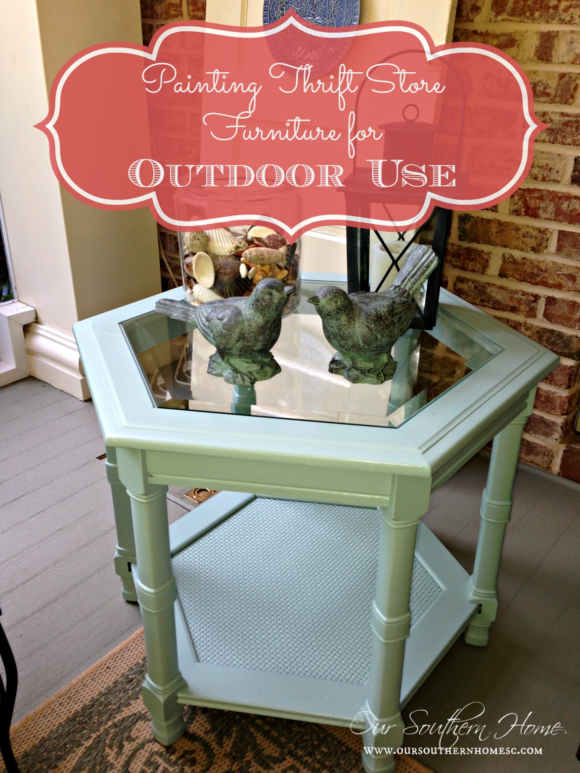 Painting Outdoor Furniture Thrift Store Find Our Southern Home