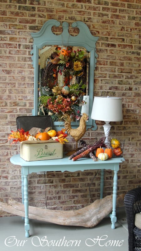 Southern fall porch with our southern home our southern home for Southern home decor