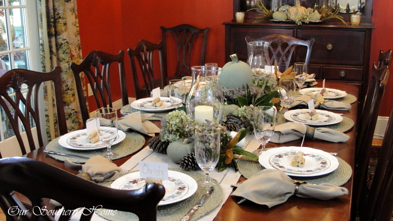 thanksgiving tablescape our southern home