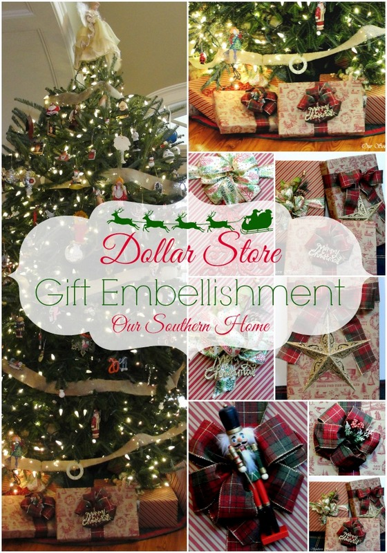 Dollar Store Gift Wrap Ideas - Our Southern Home
