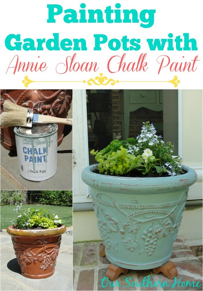painting garden pots with annie sloan chalk paint our southern home
