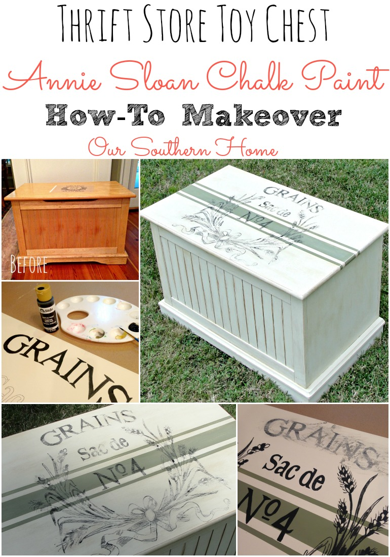 Toy Chest Chalk Paint Makeover Our Southern Home