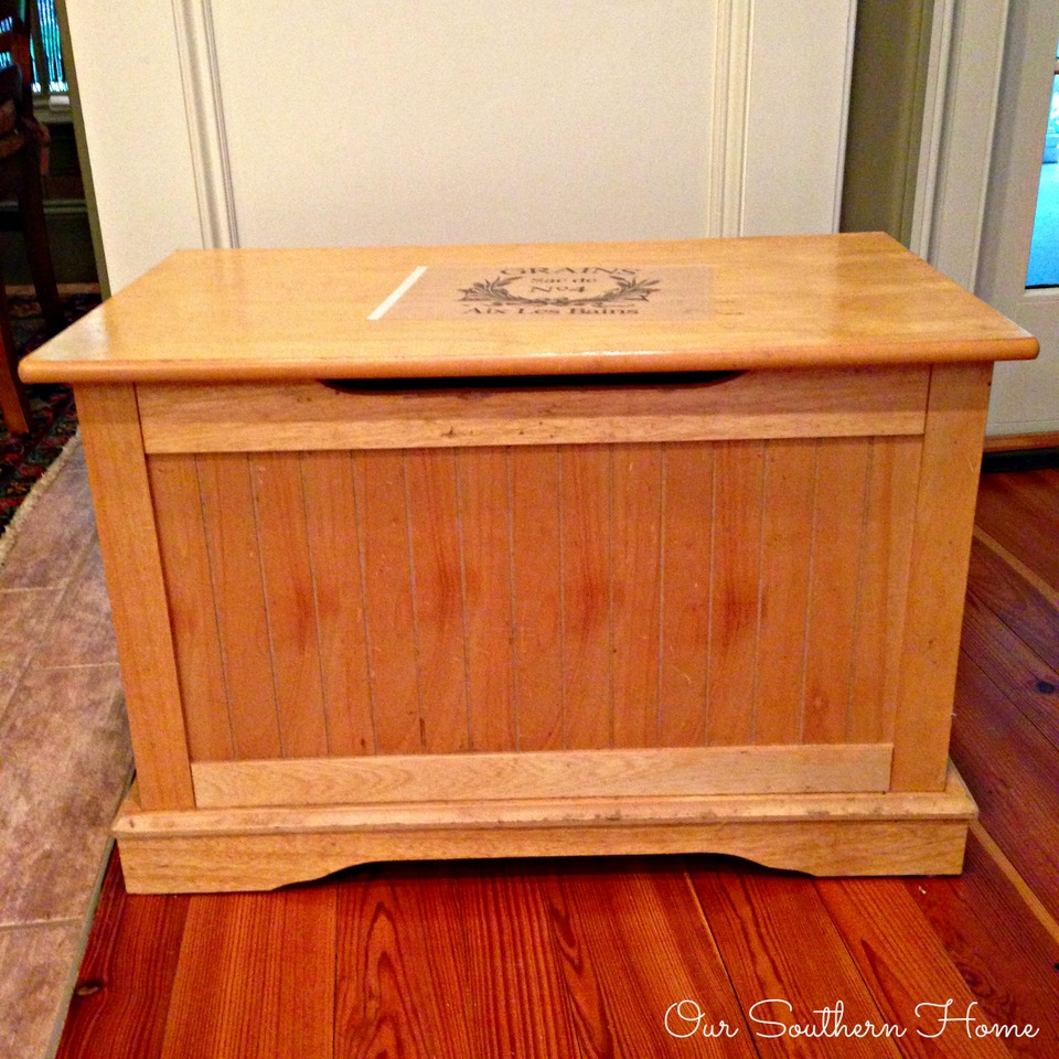 Toy Chest Makeover with Annie Sloan Chalk Paint with graphic How-To by Our Southern Home