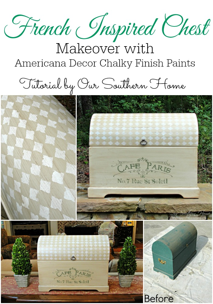 French Inspired Chest Makeover Our Southern Home