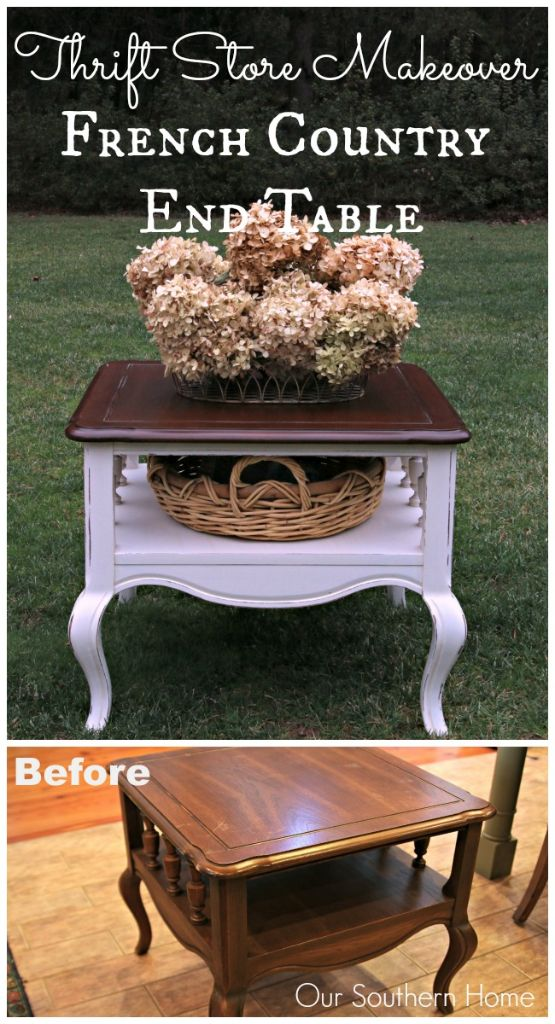 French country end table makeover our southern home for Southern country home decor