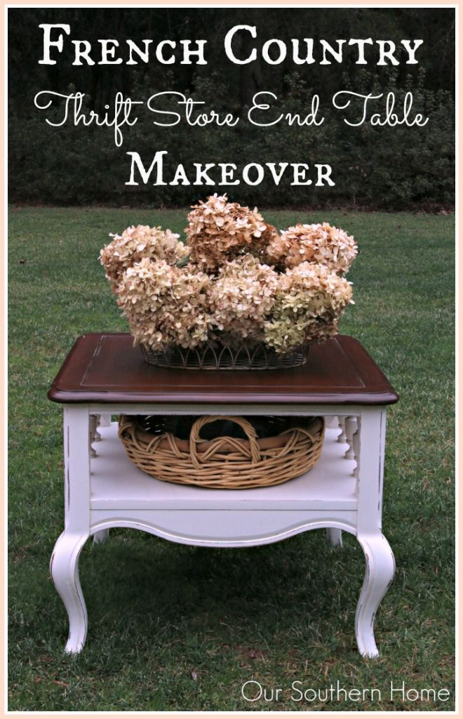french country end table makeover our southern home. Black Bedroom Furniture Sets. Home Design Ideas