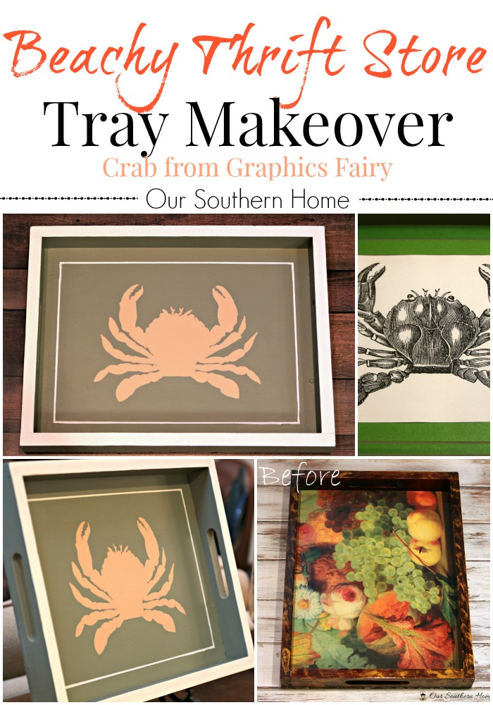 Beachy Thrift Store Tray Makeover Our Southern Home