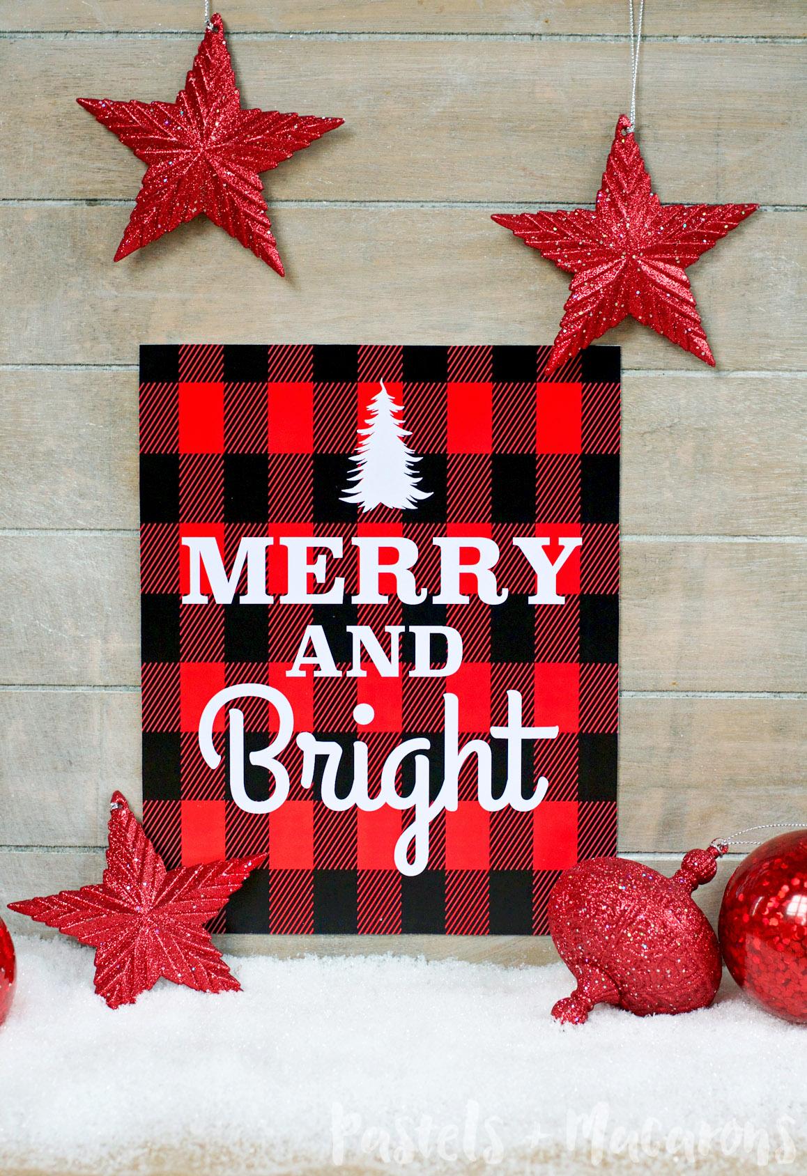 FREE Plaid Christmas Printable by Pastels & Macarons #freeplaidchristmasprintable #christmas #freechristmasprintable #freeprintable #plaid