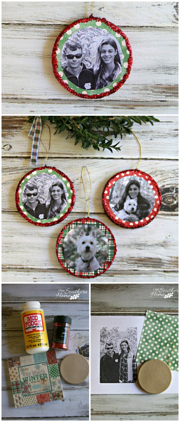 Mod podge photo ornaments - Great christmas ornaments that you need for your home ...