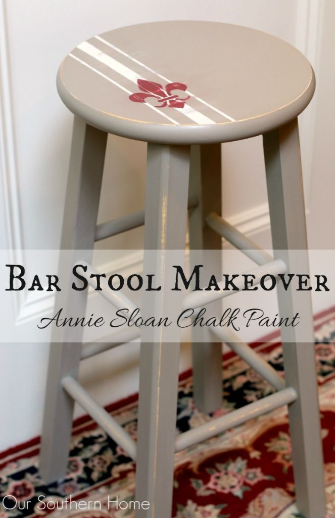 Bar Stool Makeover Our Southern Home : PicMonkey Bar Stool Makeover by Our Southern Home ASCP chalkpaint 15 from oursouthernhomesc.com size 663 x 1024 jpeg 70kB
