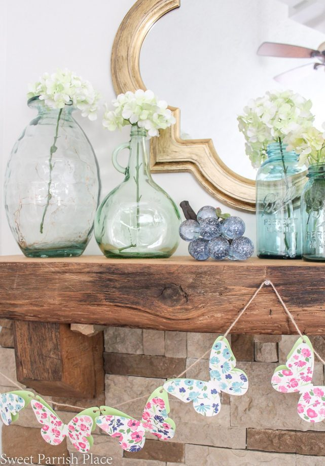 Spring Mantel {Inspiration Monday Feature}