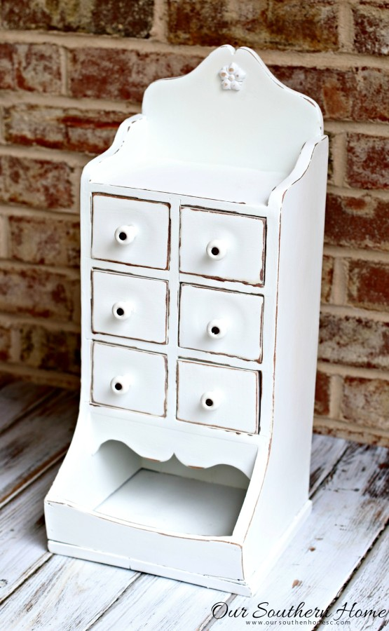 Thrift Store Desktop Organizer - Our Southern Home