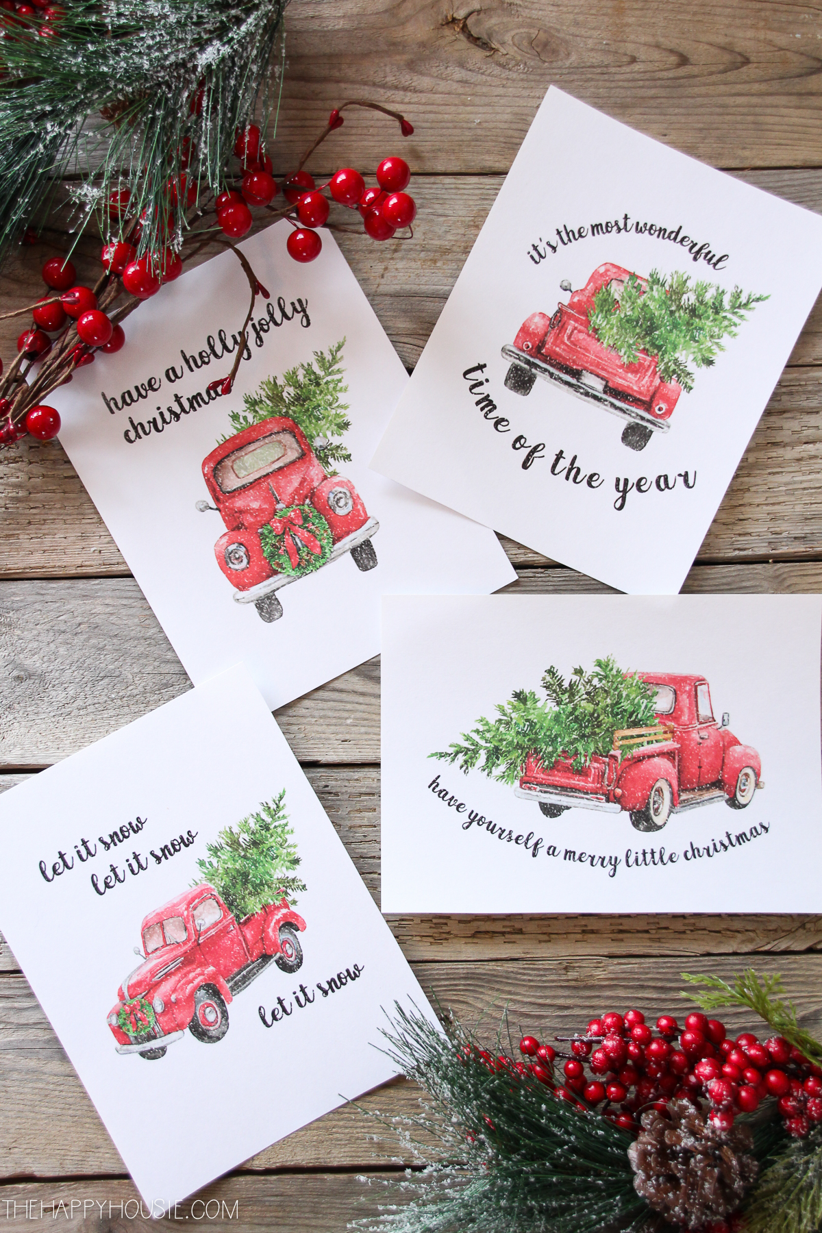 Free Vintage Christmas Truck Printables At The Happy Housie 3 Our Southern Home