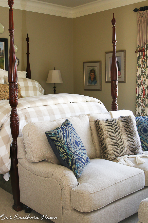 loveseat for bedroom.  Loveseat for the Master Bedroom Our Southern Home